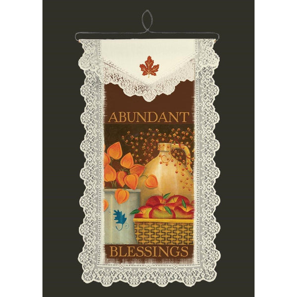 "Abundant Blessings 12 x 20"" Wall Hanging from Heritage Lace - Expressions of Home"