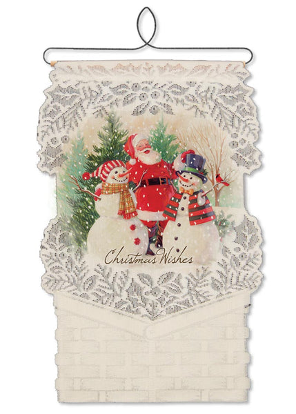 Wall Hanging-Seasonal-Christmas-Santa-Snowman-Heritage Lace