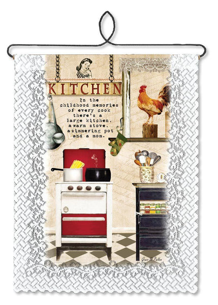 Wall Hanging-Cozy Home-Heritage Lace-Kitchen Memories