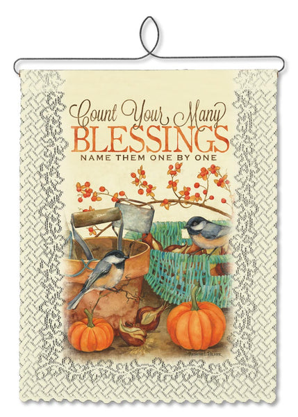 Autumn-Wallhanging-Seasonal-Chickadee Blessings