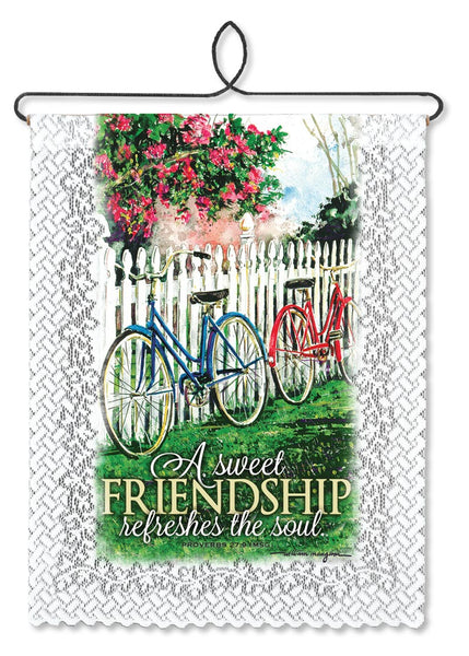 Wall Hanging-Friends-Family-Sweet Friendship-Heritage Lace