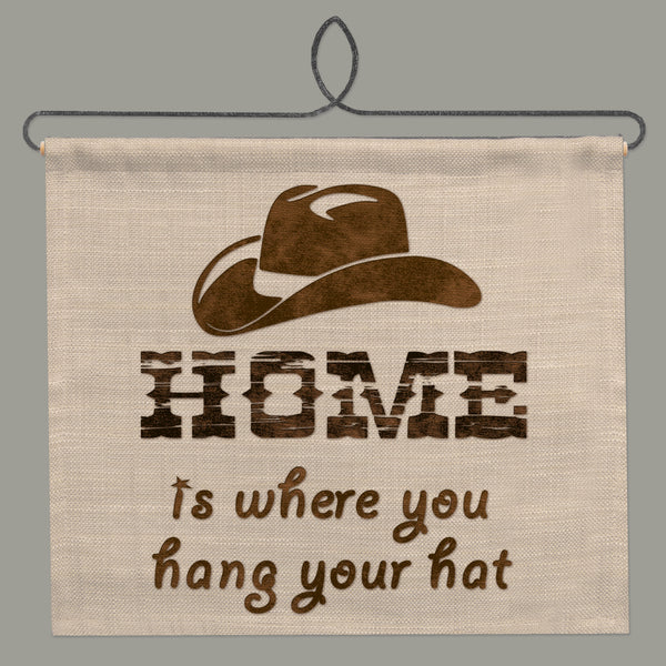 Wall Hanging-12x11-Cozy Home-Heritage Lace-Tack Room-Cowboy