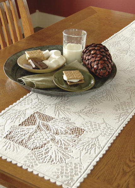 Table Linen-Runner-Dresser Scarf-Set of 2-Heritage Lace-Woodland