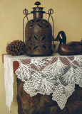 Table Linen-Mantle Scarf-Rustic-Heritage Lace-Woodland