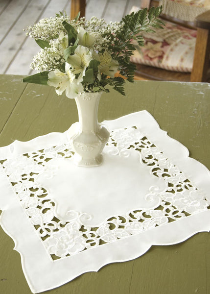 Table Linen-Doily-Set of 2-Wild Rose-Heritage Lace