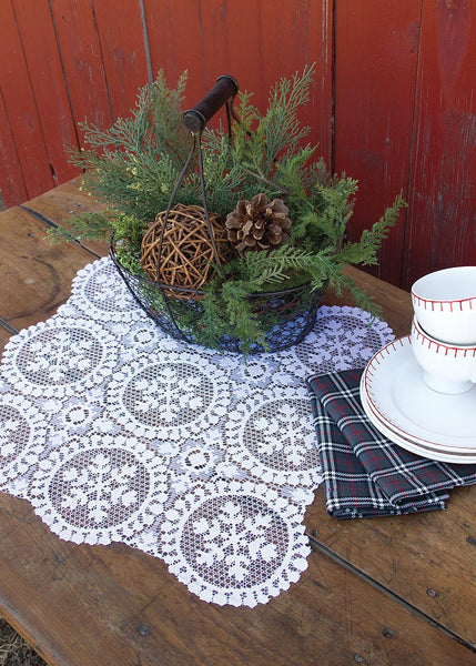Table Linen-Doilies-Seasonal-Set of 2-19x20-Heritage Lace-Yuletide