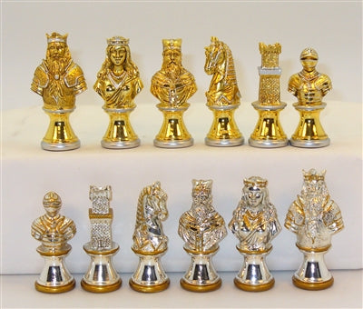 Chessmen-Zinc Alloy Metal-3 inch King-4.5 ounce-Camelot
