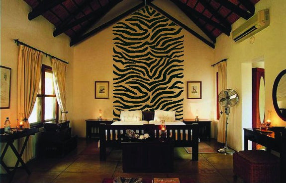 Zebra Stripes, a DIY Paint by Number Wall Mural by Elephants on the Wall - Seasonal Expressions - 1