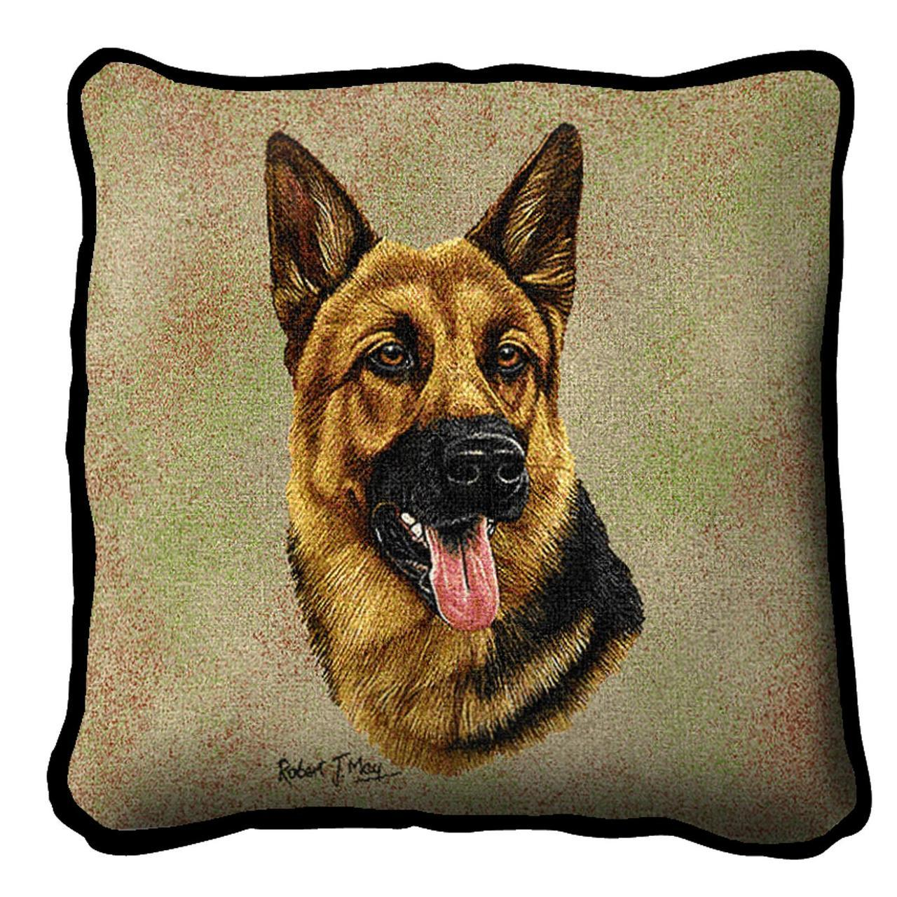 Throw Pillow-17 x 17-Animal Lover-German Shepherd