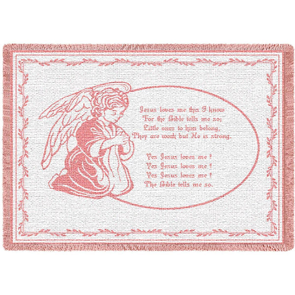 Christian Children-Throw Blanket-50 x 35-Babies-Jesus Loves Me