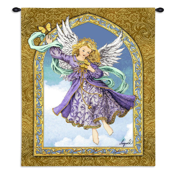Christian Decor-Choice-Tapestry-Wall Hanging-Throw-Lavender-Purple-Angel