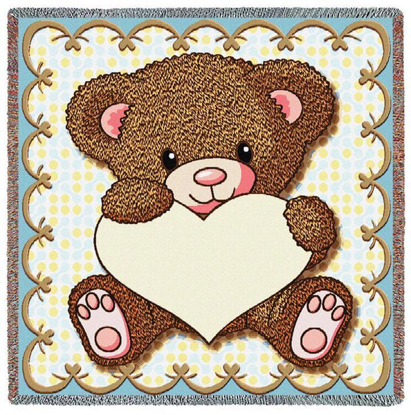 Throw Blanket-53 x 53-Woven-Babies-Children-My Little Teddy Bear