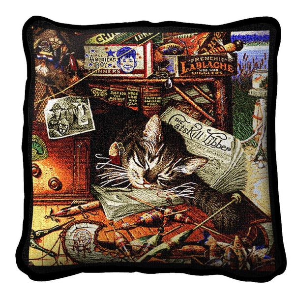 Throw Pillow-17 x 17-Rustic-Animal Lover-Max in The Adirondacks