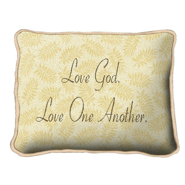 Christian Decor-Throw Pillow-12 x 8-Love God