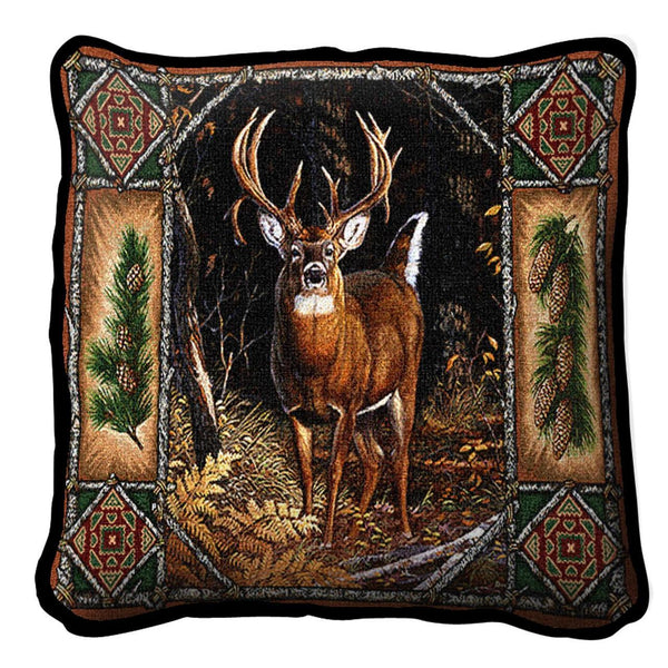 Throw Pillow-Deer Lodge-The Rustic Look