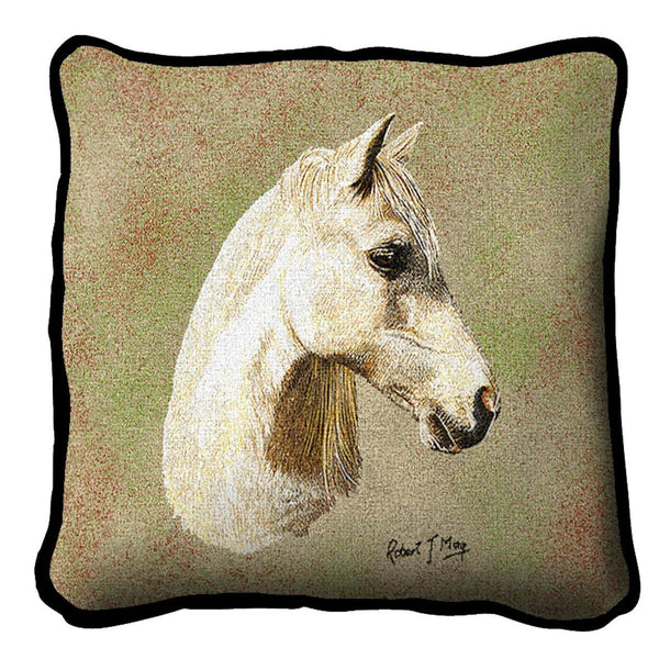 Throw Pillow-17 x 17-Animal Lover-Welsh Pony