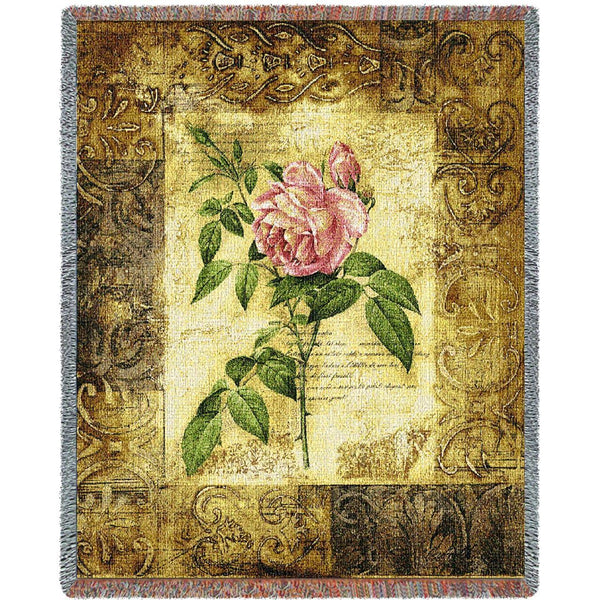 Throw Blanket-53 x 70-Cozy Home-Flowers-Blossom Elegance 1