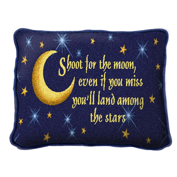 Throw Pillow-12 x 8-Positive Thoughts-Shoot For the Moon