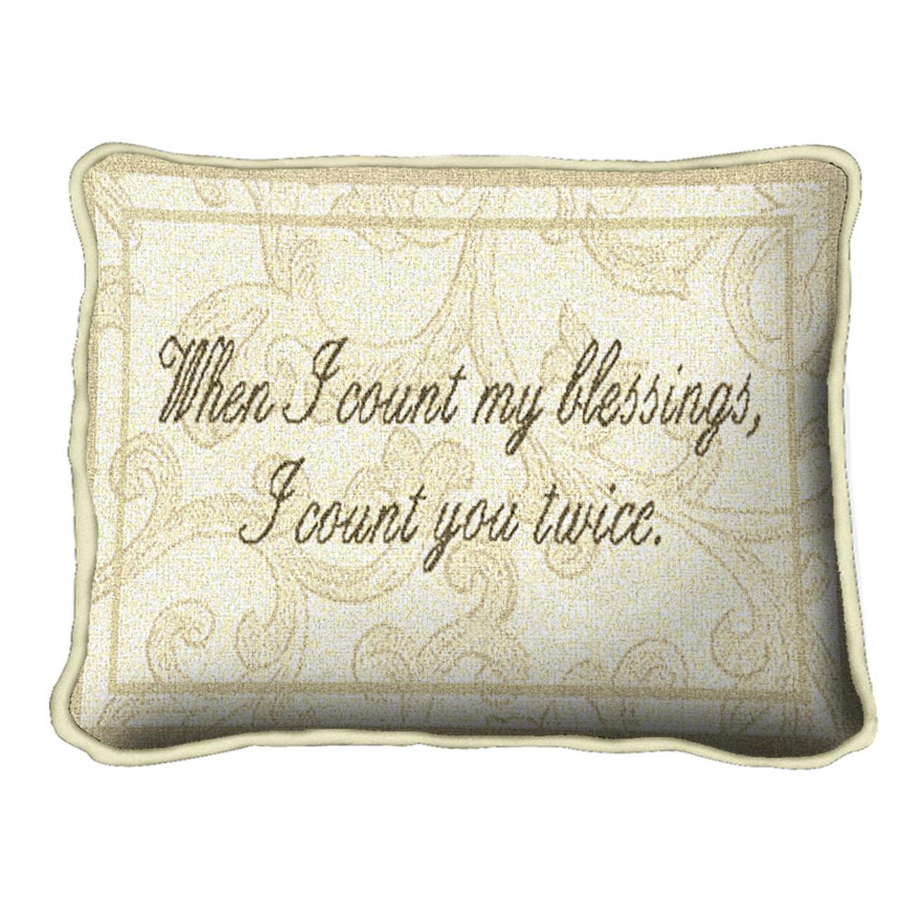 Throw Pillow-13 x 9-Friends-Family-Count My Blessings