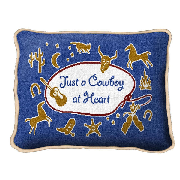 Throw Pillow-12 x 8-Positive Thoughts-Cowboy-Cowgirl