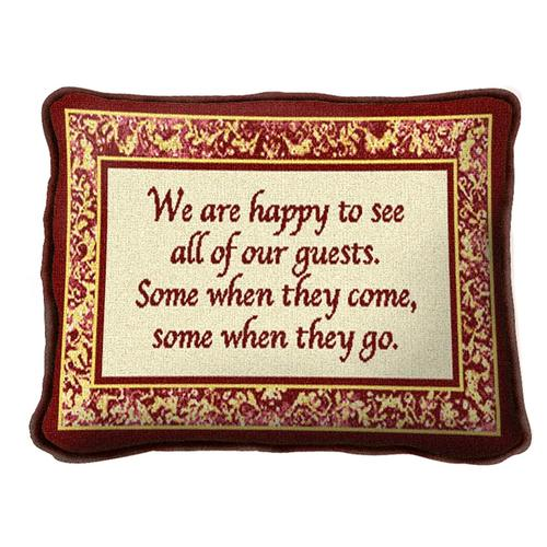 Throw Pillow-12 x 8-Positive Thoughts-Our Guests