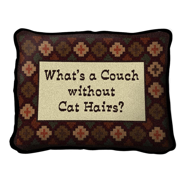Throw Pillow-12 x 8-Animal Lover-Whimsical-Cat Hair