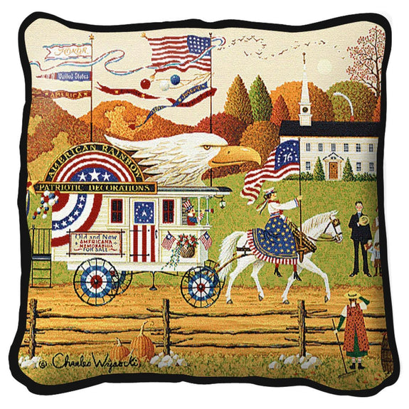 Throw Pillow-17 x 17-Americana-So Proudly We Hail