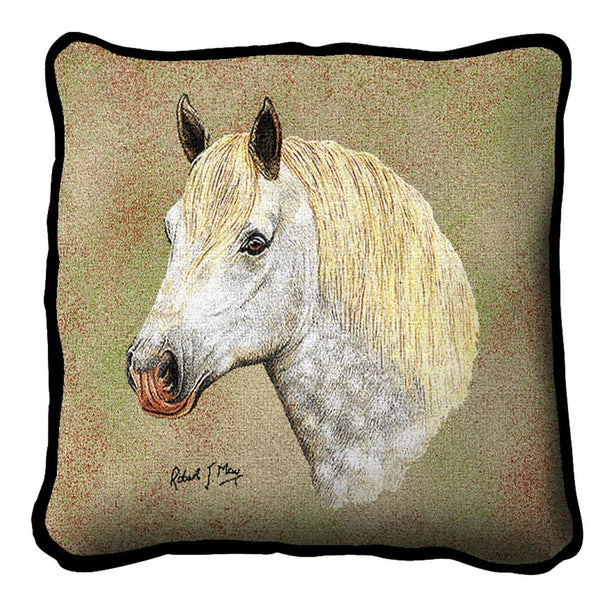 Throw Pillow-17 x 17-Animal Lover-Percheron-Horse