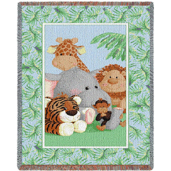 Throw Blanket-35 x 54-Woven Tapestry-Babies-Children-Stuffed Safari