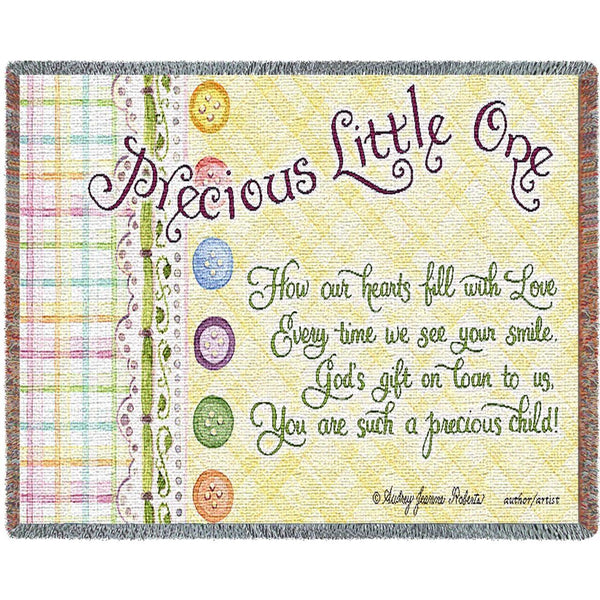 Throw Blanket-54 x 35-Woven-Babies-Children-Precious Little One