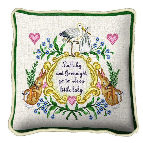 Throw Pillow-17 x 17-Babies-Children-Lullabye and Good Night