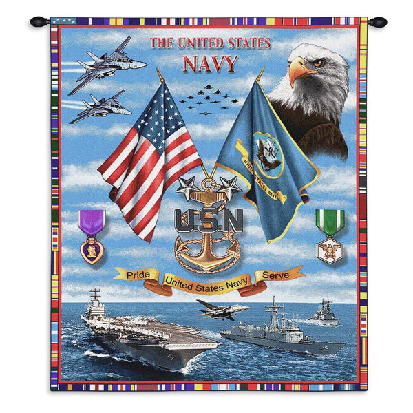 Tapestry-Wall Hanging-26 x 34-Those Who Serve-U.S.Navy