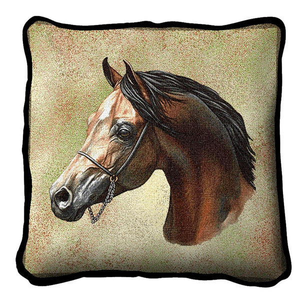 Throw Pillow-17 x 17-Animal Lover-Arabian Horse