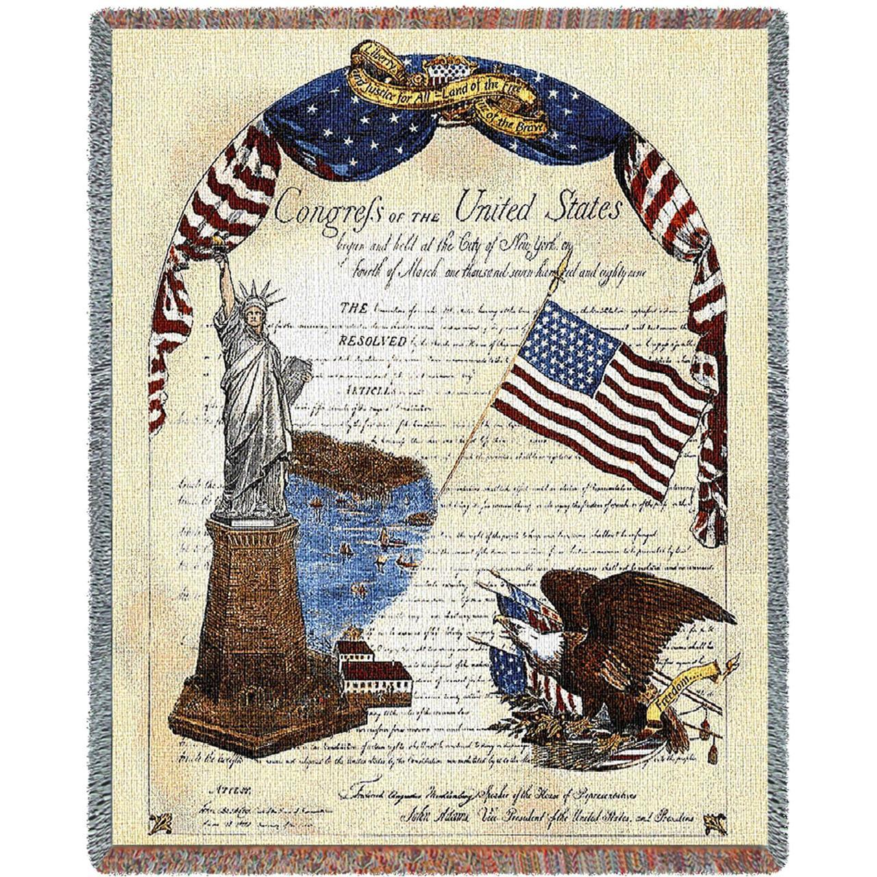Throw Blanket-54 x 72-Americana-Freedom