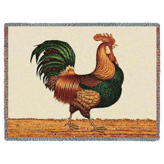 Throw Blanket-Americana-Country Life-Rooster-The Cozy Homr