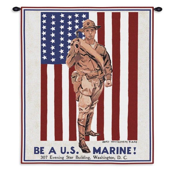 Tapestry-Wall Hanging-24 x 36-Those Who Serve-Be a Marine