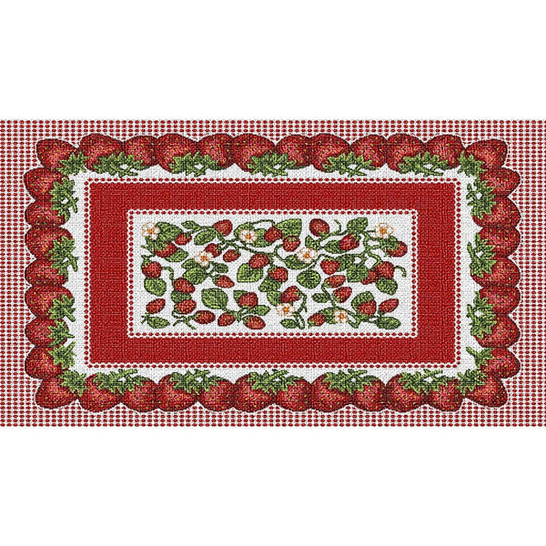 Table Linen-Placemat-Cozy Home-Strawberry Festival
