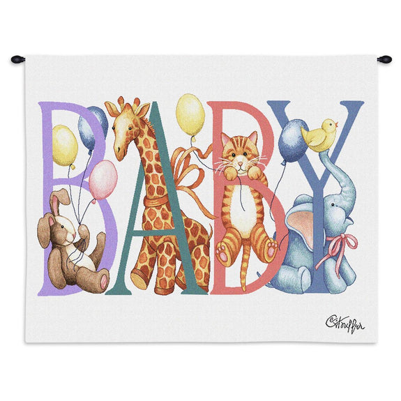 Tapestry-Wall Hanging-36 x 24-Babies-Children-Baby Animals