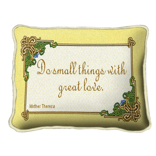 Throw Pillow-12 x 8-Positive Thoughts-Do Small Things