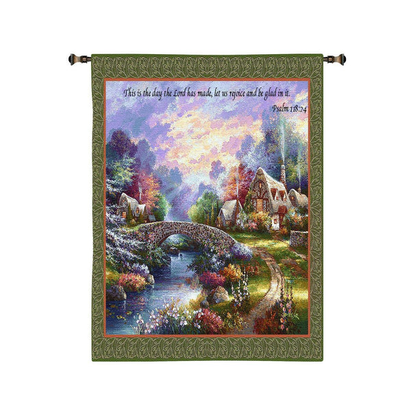 Tapestry-Wall Hanging-34 x 26-Christian-Spring Glory