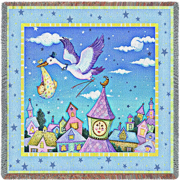 Throw Blanket-53 x 53-Woven-Babies-Children-Special Delivery