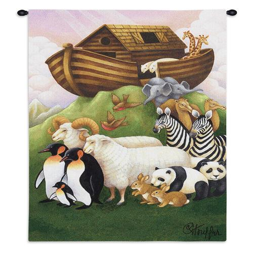 Christian Decor-Choice-Tapestry-Wall Hanging-Throw-Exiting The Ark