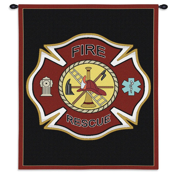Tapestry-Wall Hanging-36 x 24-Those Who Serve-Firefighter Shield