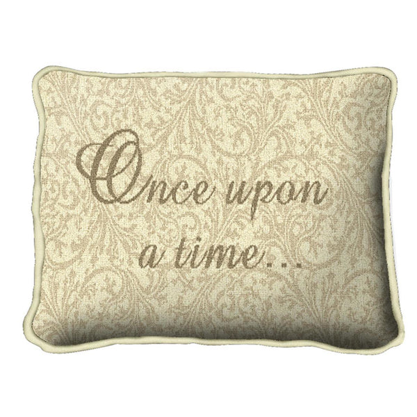 Throw Pillow-12 x 8-Positive Thoughts-Babies-Children-Once Upon a Time
