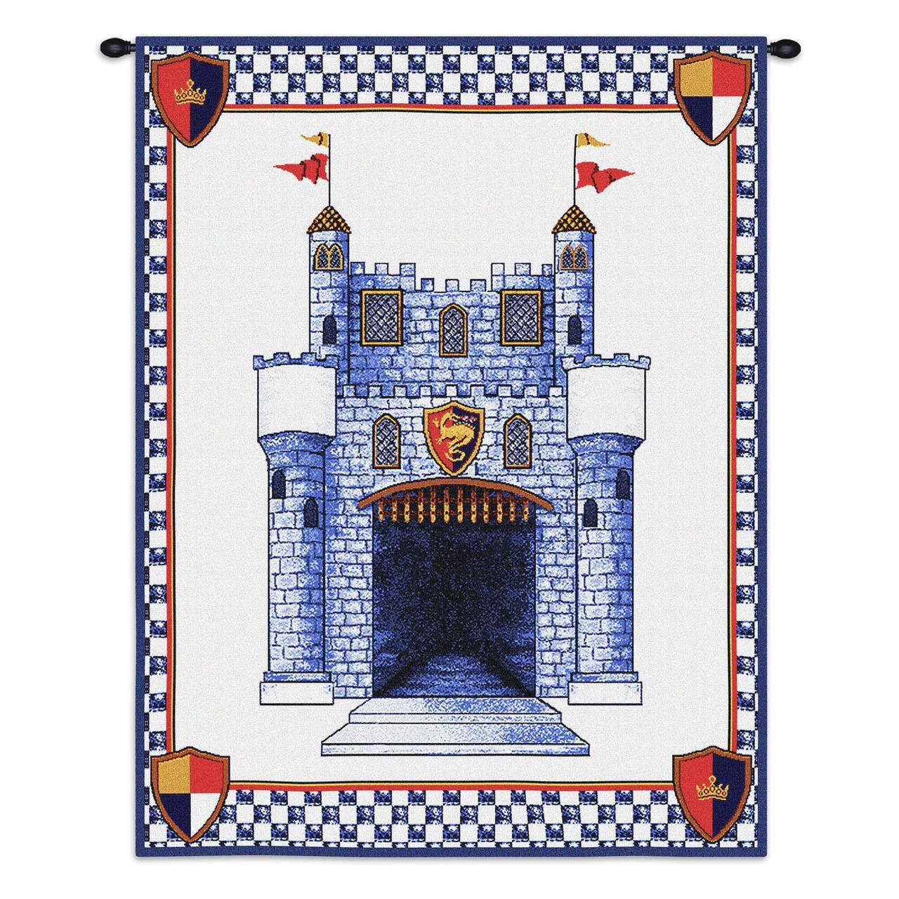 Tapestry-Wall Hanging-26 x 33-Babies-Children-Pink-Blue-Castle Wall