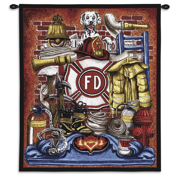 Tapestry-Wall Hanging-26 x 32-Those Who Serve-Fireman Pride