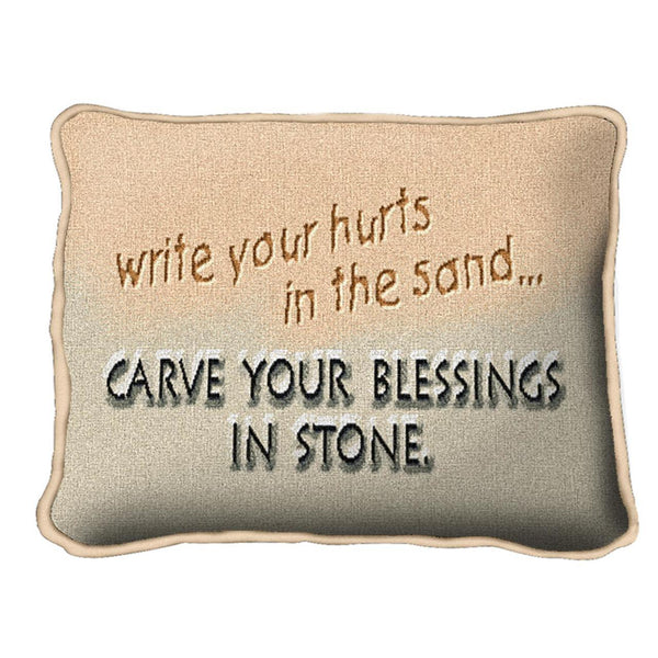 Christian Decor-Throw Pillow-12 x 8-Sand-Stone