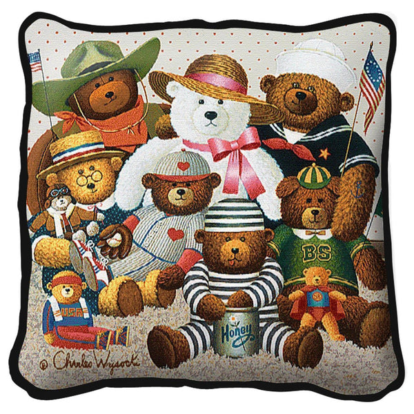 Throw Pillow-17 x 17-Babies-Children-The Gangs All Here