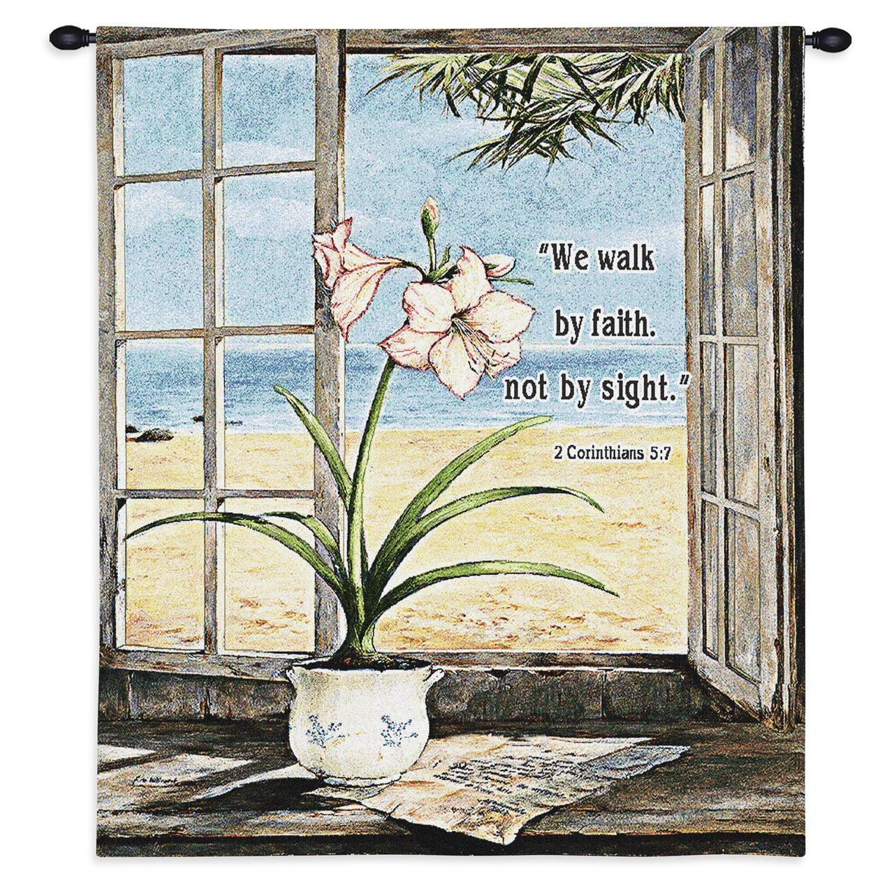 Christian Decor-Choice-Tapestry-Wall Hanging-Throw-Ocean Amaryllis