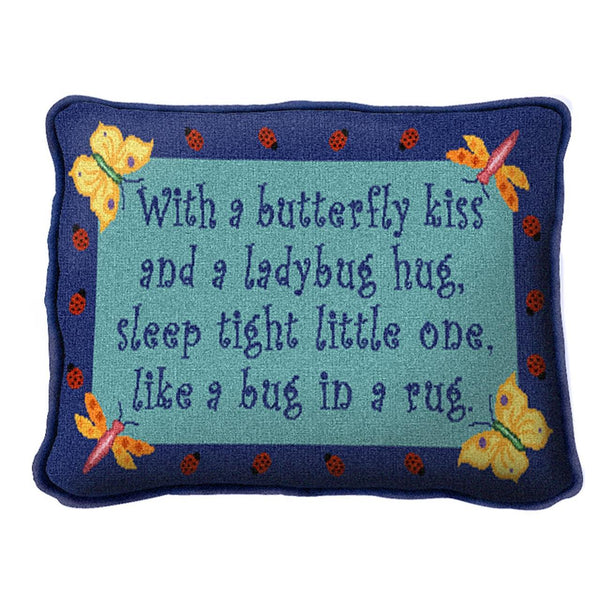 Throw Pillow-12 x 8-Babies-Children-Butterfly Kiss